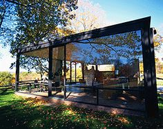 Richard-Schulman- Philip Johnson in his Glass House. Philip was the first recipient of the Pritzker Prize award. I think it is the only photograph in which you see Philip in the house and the house in its entirety. Philip Johnson Glass House, Farnsworth House, Working Drawing, Best Architects, Thing 1, Museum Of Modern Art, View Photos, Architecture Design, House Design