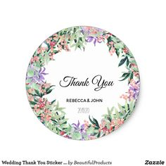 Vintage Rustic Floral Wreath Wedding Favor Classic Round Sticker Custom Theme Craft Supplies perfect gifts and wedding decor Wedding Favor Labels, Wedding Invitation Envelopes, Personalized Wedding Favors, Diy Wedding Favors, Wedding Decor, Rustic Wedding, Wreath Watercolor, Floral Watercolor, Watercolor Drawing