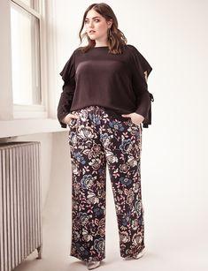 Printed Pajama Pant With Piping Detail Blooming Bulbs