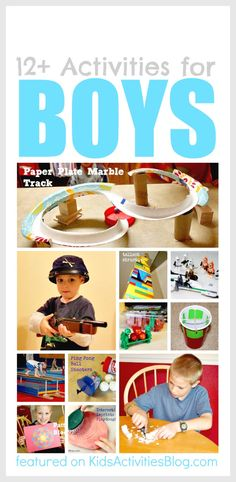 Maybe leave out the gun activities...12 great activities for active boys (and all kids) #ece #parenting
