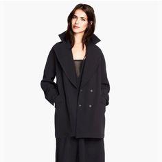 H&M Oversized Boyfriend Black Jacket Nwt