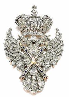 Russian eagle brooch, worn by Catherine II on Alexander Roslin portrait