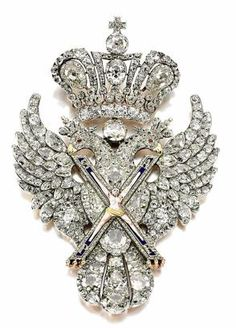 Russian eagle brooch, worn by Catherine II on  Alexander Roslin portrait