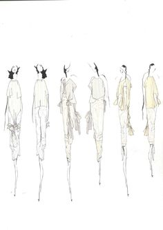 Fashion Sketchbook - fashion design sketches; collection development; fashion portfolio // Louise Alsop