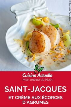 Scallops and cream with citrus peel - - New Years Eve Dinner, Dinner For 2, Canned Blueberries, Vegan Scones, Gluten Free Flour Mix, Scones Ingredients, Blueberry Scones, Christmas Dishes, Homemade Candies