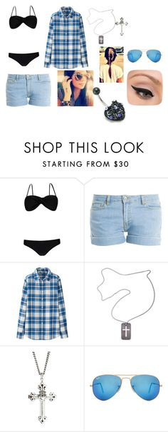 """Untitled #770"" by samantha-myers-2 ❤ liked on Polyvore featuring Boohoo, Paul & Joe, Uniqlo, Christian Dior, King Baby Studio, Ray-Ban and LORAC"
