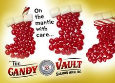 December 04 - Candy Advent Calendar - Need Stocking Stuffers? Fill your boots at the Candy Vault in Salmon Arm, BC Candy Advent Calendar, Colorful Candy, Stocking Stuffers, Salmon, Raspberry, Fill, December, Arm, Clip Art