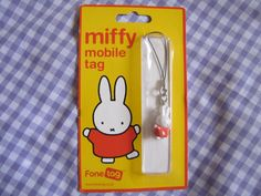 Miffy Phone Strap. SO much want. xD