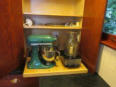 Appliance Bay hidden inside cabinet.