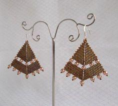 Beaded Earrings Cinnamon & Pearls - MichaelaBijoux | Crafty