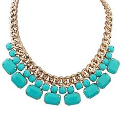 JQ #Western Style Fashion Geometrical #Sweet Necklace Necklace:50cm Adjustable
