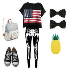 """""""Spooky"""" by taylartillman on Polyvore featuring Chicnova Fashion, Boohoo, Converse, Red Camel and Miss Selfridge"""
