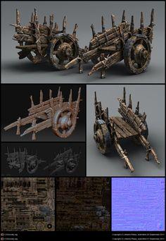 Medieval Cart by Alberto Ribas   3D   CGSociety