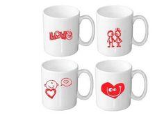 Caneças em Porcelana Promocional:Motivo Namorados