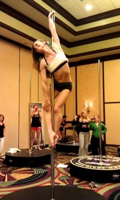Jenyne Butterfly workshop moves @ LA Pole Convention 2012