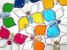 Stained Glass Suncatcher Butterfly Handmade by FleetingStillness, $19.99