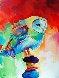 Barn Owl  Original Owl Giclee PRINT  By por CorinaStMartinArt