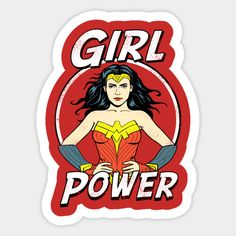 Shop Girl Power wonder woman stickers designed by as well as other wonder woman merchandise at TeePublic. Bubble Stickers, Cute Stickers, Printable Sticker Paper, Fruit Icons, Wonder Woman Logo, Hippie Art, Red Aesthetic, Aesthetic Stickers, Comic Character