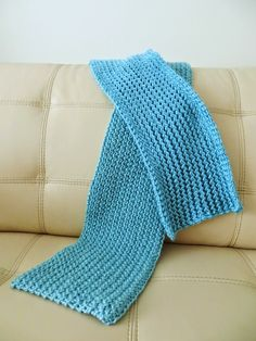 I love knitting scarves. I really don't need another one, but scarves are my go-to project whenever I want to make something relativel. Knitting Scarves, Rick Rack, Crocheting, Knit Crochet, Blanket, How To Make, Crochet Hooks, Ganchillo, Blankets