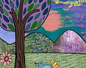 Lollipop Tree, Children's Room Art, Wall Art