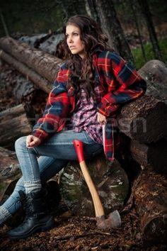 Love the boots and socks over leggings: Stock photo - lumberjack girl © Andreas Gradin (moori) (#1342790) | Stockfresh