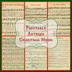 6 FREE Printable Christmas Music Pages ~~~via KnickofTime.net