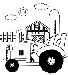 tractor coloring pages for kids printable | print picture deere ... - John Deere Tractor Coloring Pages