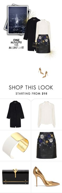 """""""One minute to midnight"""" by sophiek82 ❤ liked on Polyvore featuring Donna Karan, Karen Millen, Kate Spade, Unique, Valentino and Casadei"""