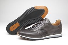Magnanni | Christian Grey. #Sneakers Design does not need to be at odds with comfort. Sporty and smart style with perforated and stitched detailing in leather.  www.magnanni.com/shop/christian-grey