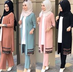 Islamic Fashion, Muslim Fashion, Modest Fashion, Fashion Dresses, Pakistani Fashion Casual, Pakistani Dress Design, Mode Abaya, Hijab Fashionista, Hijab Chic