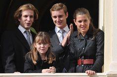 Children of Princess Caroline of Monaco:  Pierre Casiraghi, Charlotte Casiraghi, Andrea Casiraghi, Princess Alexandra of Hanover