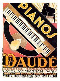 AP1494 - Pianos Daude, Artist: Andre Daude, 1920s (30x40cm Art Print)