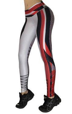 Drakon - Red Grey and Black Leggings