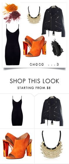"""""""chococo"""" by crystelpi on Polyvore featuring mode, Boohoo, The Kooples, Calvin Klein Collection, Adoriana et Urban Decay"""