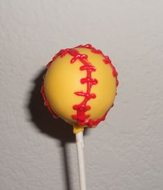 I will be making these!  Softball Cake Pops