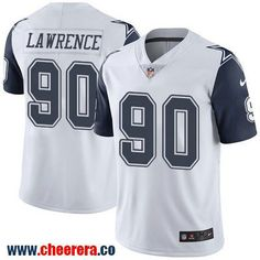 Men's Dallas Cowboys #90 Demarcus Lawrence White 2016 Color Rush Stitched NFL Nike Limited Jersey