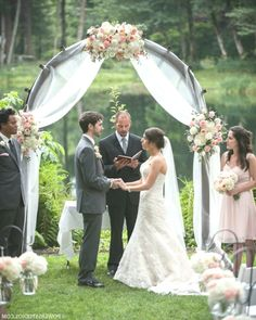 navy and white wedding arch decoration ideas Wedding Arbors, Wedding Ceremony Arch, Wedding Aisles, Wedding Backdrops, Wedding Ceremonies, Ceremony Backdrop, Wedding Ideas, White Wedding Arch, Floral Wedding
