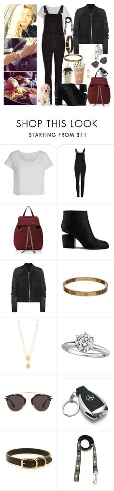 """""""city day with my friends"""" by ally-xcv ❤ liked on Polyvore featuring Pieces, Rich & Skinny, Mansur Gavriel, Alexander Wang, Rick Owens, Cartier, Jennifer Zeuner, Tiffany & Co., Christian Dior and Mercedes-Benz"""