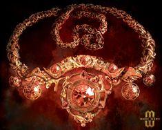 Sunfire Amulet For Mage Wars by lorraine-schleter.deviantart.com on @DeviantArt