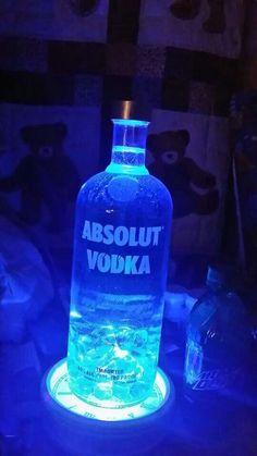 Absolut on clockface led! $30 Bottle Lamps, Absolut Vodka, Lamps For Sale, Vodka Bottle, Led, Drinks, Decor, Drinking, Beverages