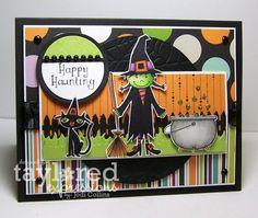 Happy Haunting Card by Jodi Collins #Halloween, #Cardmaking