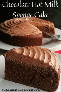 This decadent Chocolate Hot Milk Sponge Cake with irresistible taste and texture makes the perfect bake for any occasion.  Make it elaborate and top with a creamy chocolate ganache or buttercream or keep it simple and just serve with sieved powdered sugar.