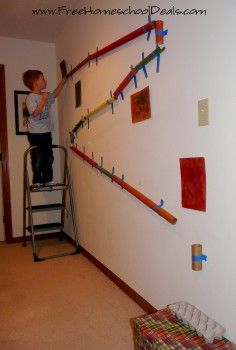 Make a DIY Marble Run from Household Items | Free Homeschool Deals ©