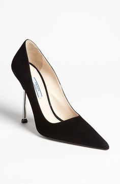 OH MY, OH MY!!!! Prada Metal Heel Pump available at #Nordstrom