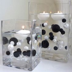 Use floating pearls to create an under-the-sea scene! Put plastic fish or mermaids in the gel for extra fun. This is crazy! Unique Wholesale Transparent Water Gels Packet Vase Fillers for Floating the Pearls... The Black and White Pearls are Sold Separately