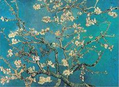 Van Gogh; Takken met amandelbloesem. Het mooiste schilderij wat ik ooit gezien heb. Verliefd op de kleuren!