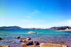 Cala Martina, Ibiza. Great place for a nice paella at Restaurant Martina!