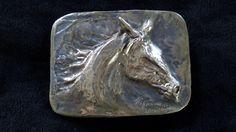 Galloping horse belt buckle by Marcela Ganly Belt Buckles, Sculpture Art, Bronze, Horses, Personalized Items, Jewelry, Jewlery, Bijoux, Schmuck