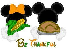 minnie mouse and mickey mouse thanksgiving digital by NobbieNeez, $5.00