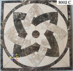 stone medallion, water jet cut